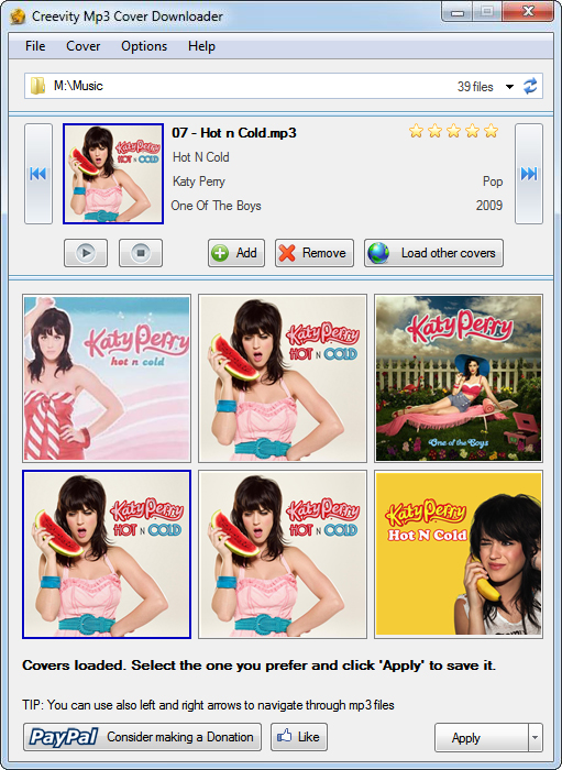 Click to view Creevity Mp3 Cover Downloader 1.4.0 screenshot